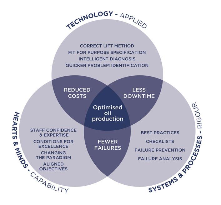 Artificial Lift Performance Venn diagram