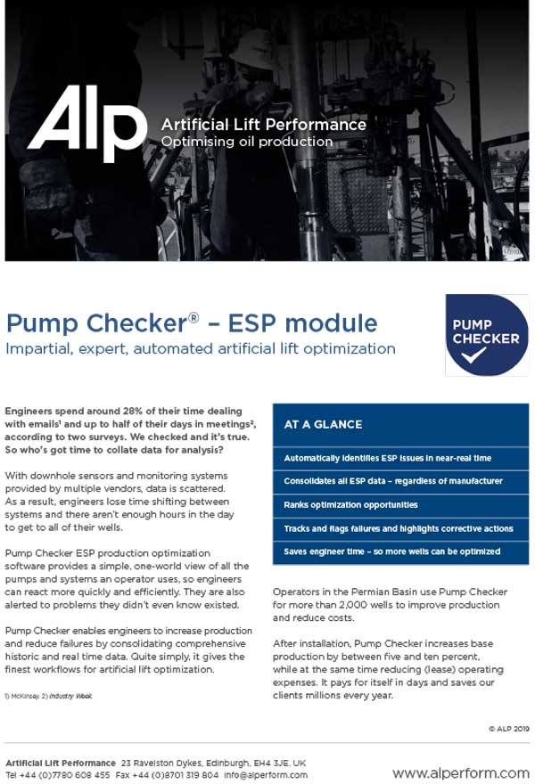 Data Sheet Pump Checker ESP
